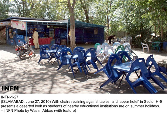 Summer holidays paralyse 'chappar' hotels in capital